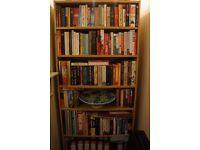 Tall beech-effect Bookcase