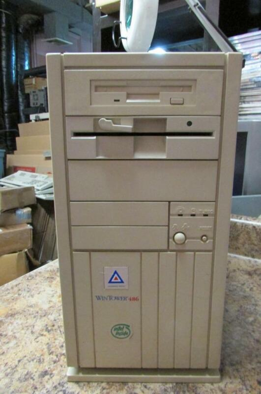 Vintage Leading Edge WinTower 486 486DX2 PC Computer CPC-2908 - As Is, Powers On