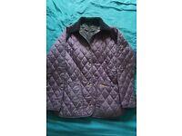 Womens BARBOUR jacket - size 8 Purple.