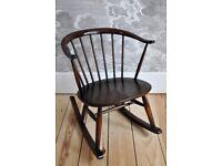 Vintage Retro 60's Ercol Windsor Cowhorn Rocking Chair / Rocker
