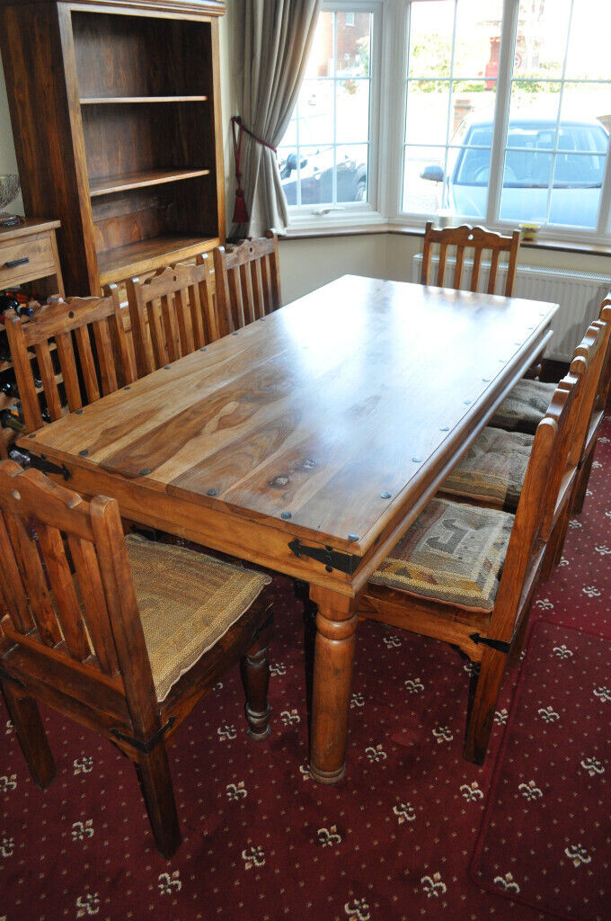 Myakka Hardwood 8 Place Dining Table And Chairs In Sidcup London Gumtree