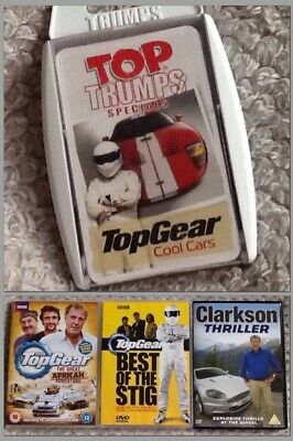 4x TOP GEAR bundle:Top Trumps & DVDs:AFRICAN Adventure/Best of The (Best Top Gear Adventures)