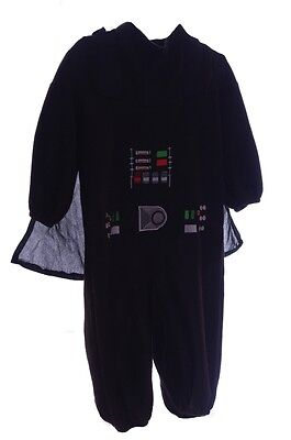 Baby Boys Toddler Star Wars Darth Vader Halloween Costume Black Cape 2T NEW (Darth Vader Baby Kostüm)
