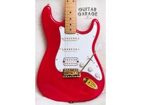 Fender Japan Stratocaster HSS Red Gold guitar - USA pickups, Callaham block, MIJ - CAN POST!