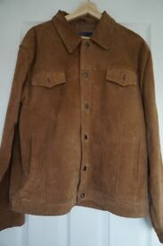Man's Leather Suede Jacket (Medium) - unworn