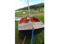 """Marine ply Mirror dinghy, 8'6"""", extremely light and portable on roof rack"""