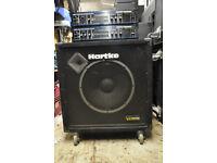 hartke ha2000 bass head + spare - hartke vx115 cabinet