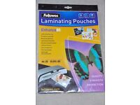 Fellowes A4 Enhance 80 Laminate Pouches pack 25