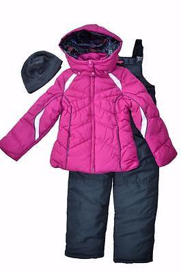 NWT Girls 7/8 10/12 14/16 London Fog 2-Piece Bib Snowsuit w/
