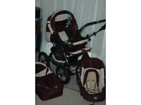 reliable pram, car seat, baby-carrier and all accessories