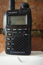 Yaesu VX3R Dual band transceiver