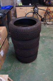 Dunlop Winter Tyres. 2 x 225/45/R17 94V; 2 x 245/40/R17 95V. Mercedes C Class. 5mm tread remaining
