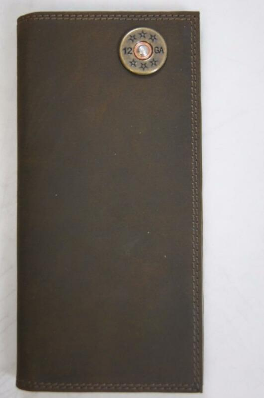 ZEP-PRO 12 gauge SHOTGUN SHELL Crazy Horse Leather LONG Roper WALLET ONLY NO BOX