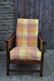 vintage 1940s utility armchair