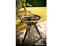 La Hacienda Olivera Fire Pit & BBQ Grill, BRAND NEW IN BOX. 68cm diameter grill area, 76cm height