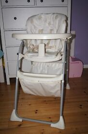 Mothercare baby high chair with basket RRP £45
