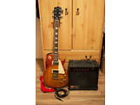 Les Paul Style Guitar by Nevada & Hohner Amp