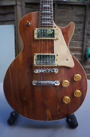 Les Paul Standard guitar by B&CH from Czech Republic Long tenon neck stripped down gold top