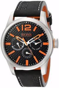 BOSS Orange Mens 1513228 PARIS Analog Display Quartz Black Watch