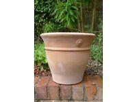 Large terracotta plant pot - unused