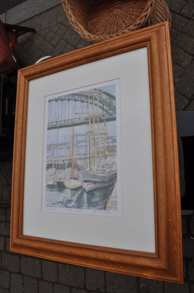 limited edition print j a giles 32/500 tall ships