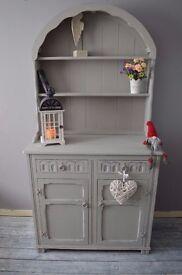 Shabby Chic Distressed Dutch Welsh Dresser Annie Sloan Paris Grey