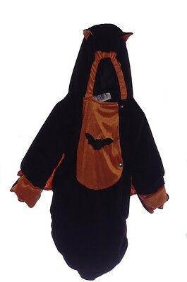 Baby Infant Girls Boys Black BAT BUNTING Halloween Costume Warm 3 6 9 Months - Bat Bunting Kostüm