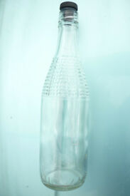 VINTAGE GLASS LUCOZADE BOTTLES HOME BREW BEER PRESSURE CONTAINERS SCREW TOP PRICE EACH