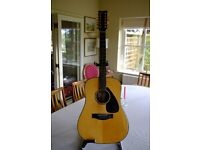 Yamaha 12 string guitar DW-7-12