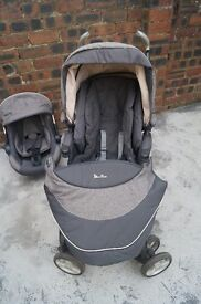 Silvercross pram which converts to buggy plus baby car seat