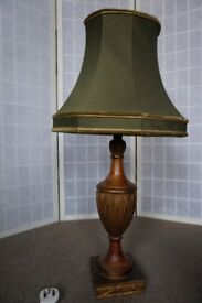 Retro style golden green lamp