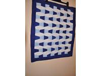 ****only 37 days left until christmas**** a hand made mini tumbler quilt £7.50