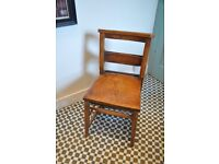 Vintage wooden church chairs