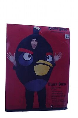 Mens Adult Womens Angry Black Bird Birds Halloween Costume XL Purim Outfit - Angry Birds Black Bird Kostüm