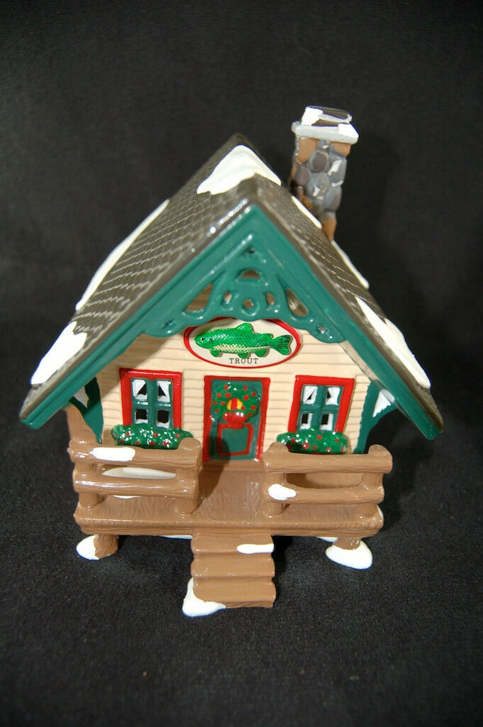 Trout Cabin 1 Of The Fisherman's Nook Cabins Dept 56 Retired Snow Village