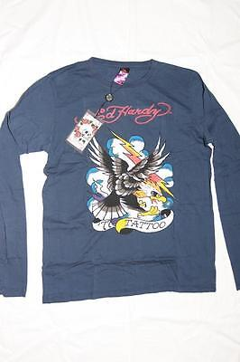 New With Tag!! Ed Hardy Men Eagle with Lighting Long Sleeve T- Shirts In -