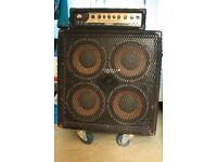 BASS AMP AND CAB (Behringer BX3000T & Peavey 410TX)