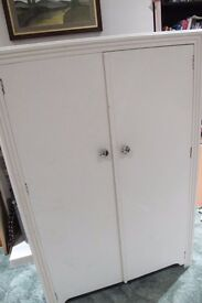 Small old painted wardrobe