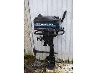Mercury 3.5 HP Standard Shaft Outboard Motor