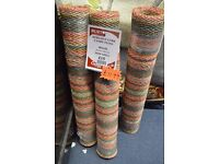 Kersaint Cobb Candy Floss Striped Sisal Rugs Runners 90 x 150cm (Display, perfect condition) RRP £60