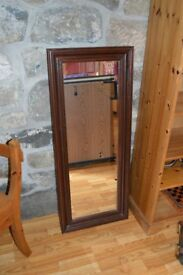 Large Mahogany Colored Mirror excellent condition