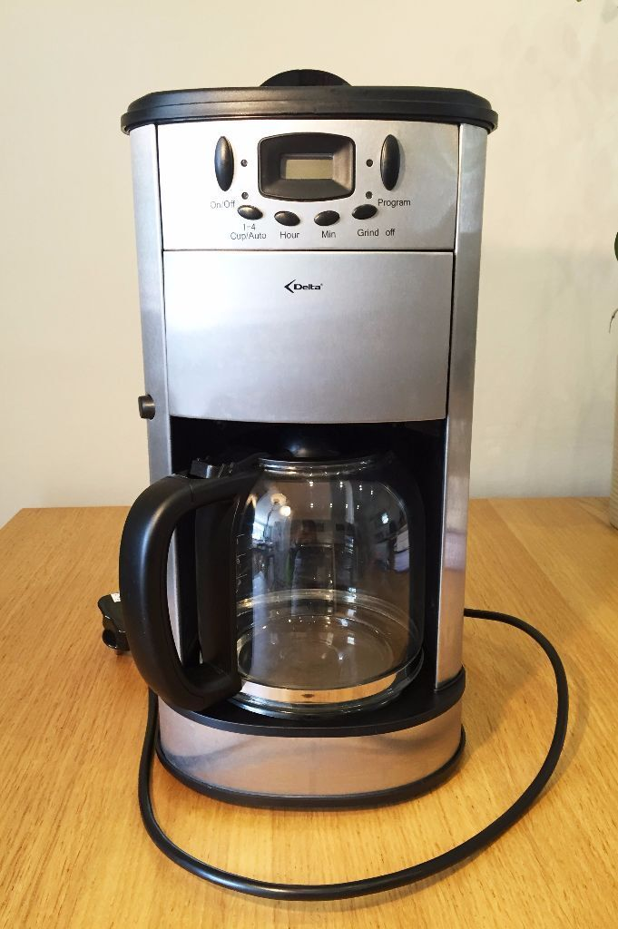 delta coffee machine with built in grinder in sutton. Black Bedroom Furniture Sets. Home Design Ideas