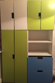 3 single wardrobes. No scratches. £30 per single wardrobe. Total £90 for 3. To be sold 3 together