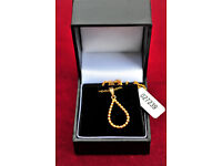 Nordahl hallmarked sterling silver, gold coloured necklace,