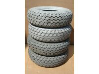 4 used 400 x 5 (330 x100) tyre / tyres for mobility scooter