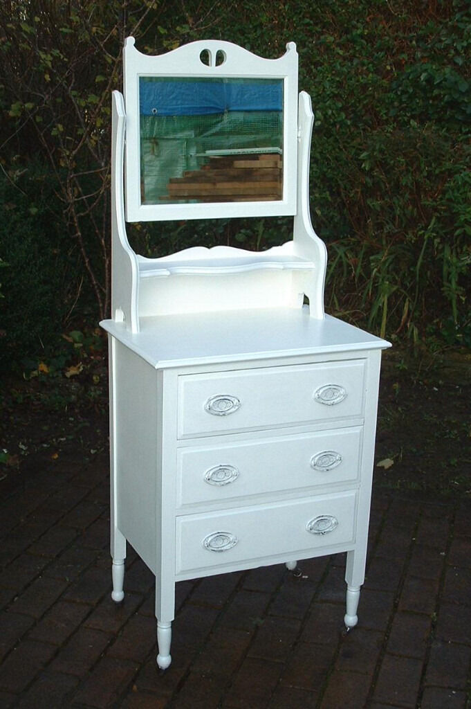 Vintage Small Shabby Chic Dresser Chest of Drawers with ...