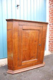 Solid Oak antique corner cupboard
