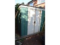 Lightweight metal garden shed 6ft x 4ft (1.2m x 1.8m) FREE