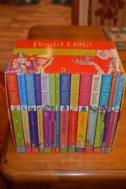 Boxed set of 15 Roald Dahl books