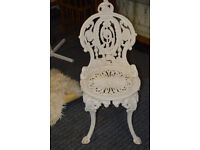 VICTORIAN CAST IRON GARDEN CHAIR